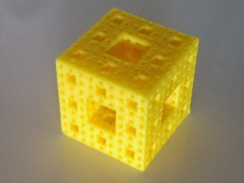 Day 357 - Printer challenge! 26 mm Level 3 Menger sponge - mathgrrl