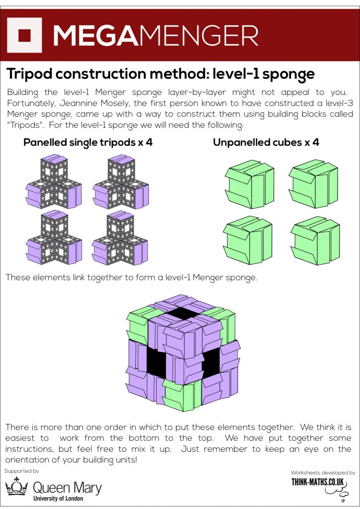 Tripod construction method for level-1 sponge