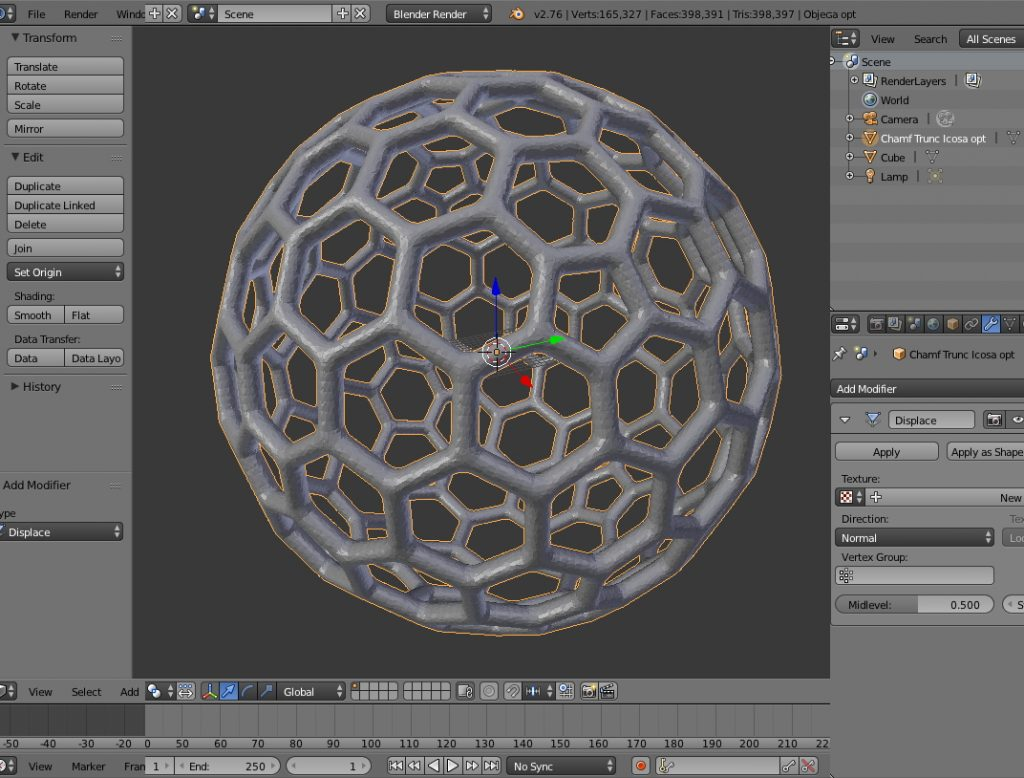Thickening 3D Models With Blender - mathgrrl