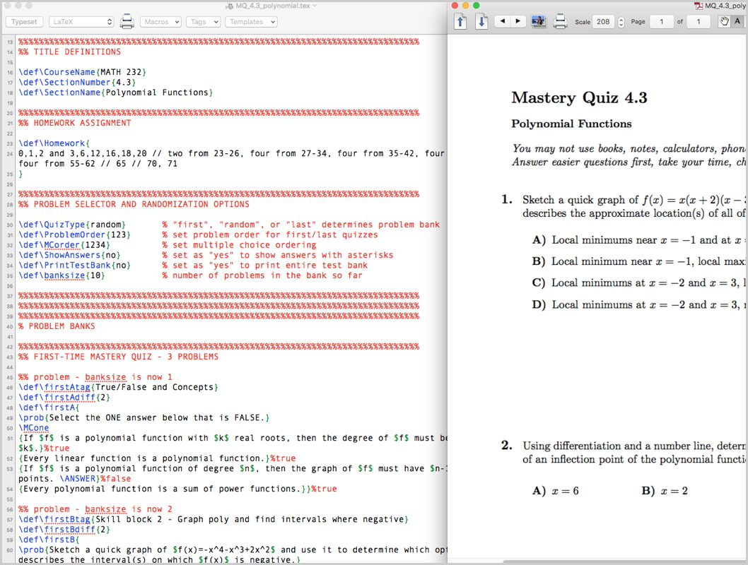Generating Random Mastery Quizzes with Nothing But LaTeX - mathgrrl